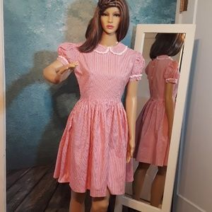 Vintage CANDY STRIPER dress, sz S